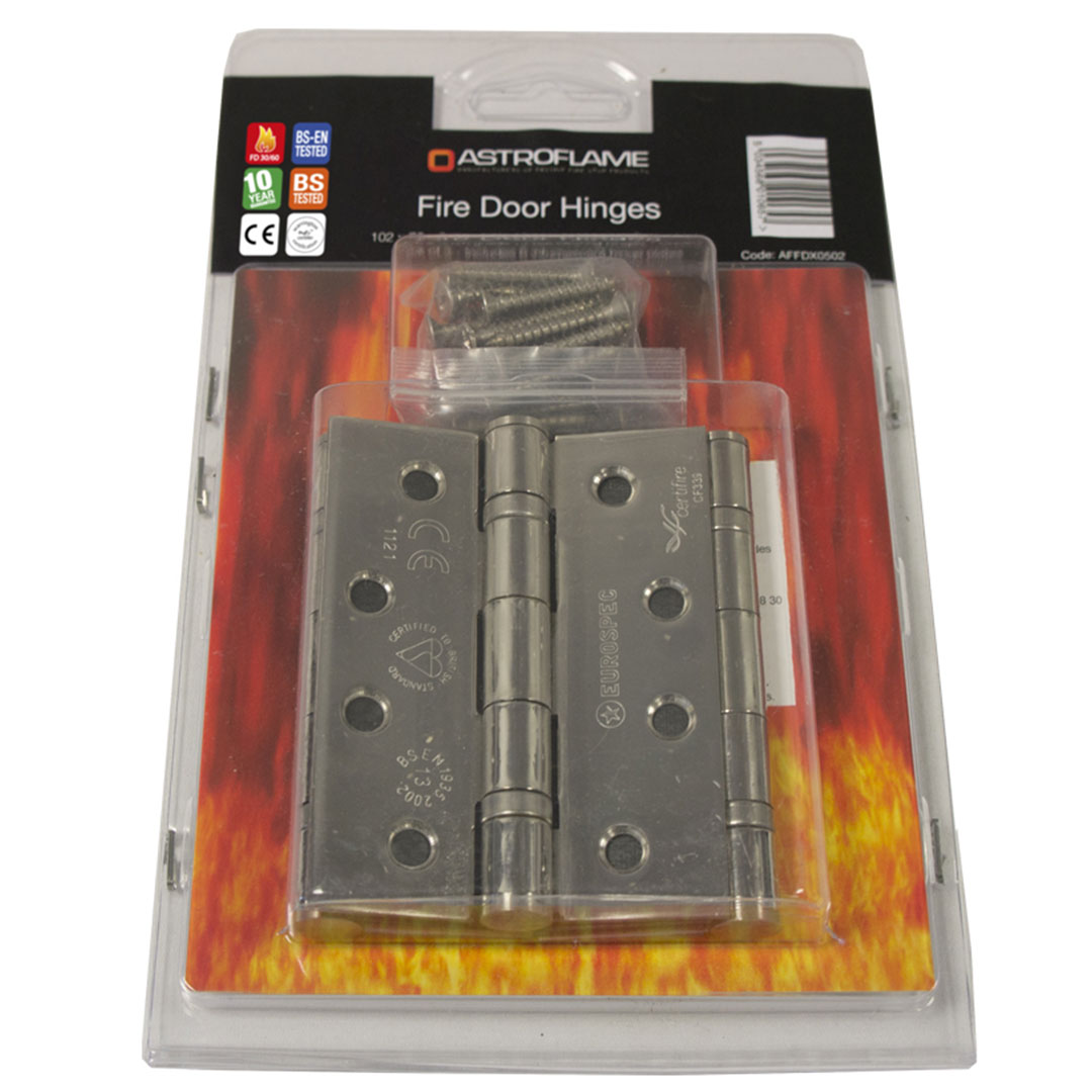 A range of fire rated hinges