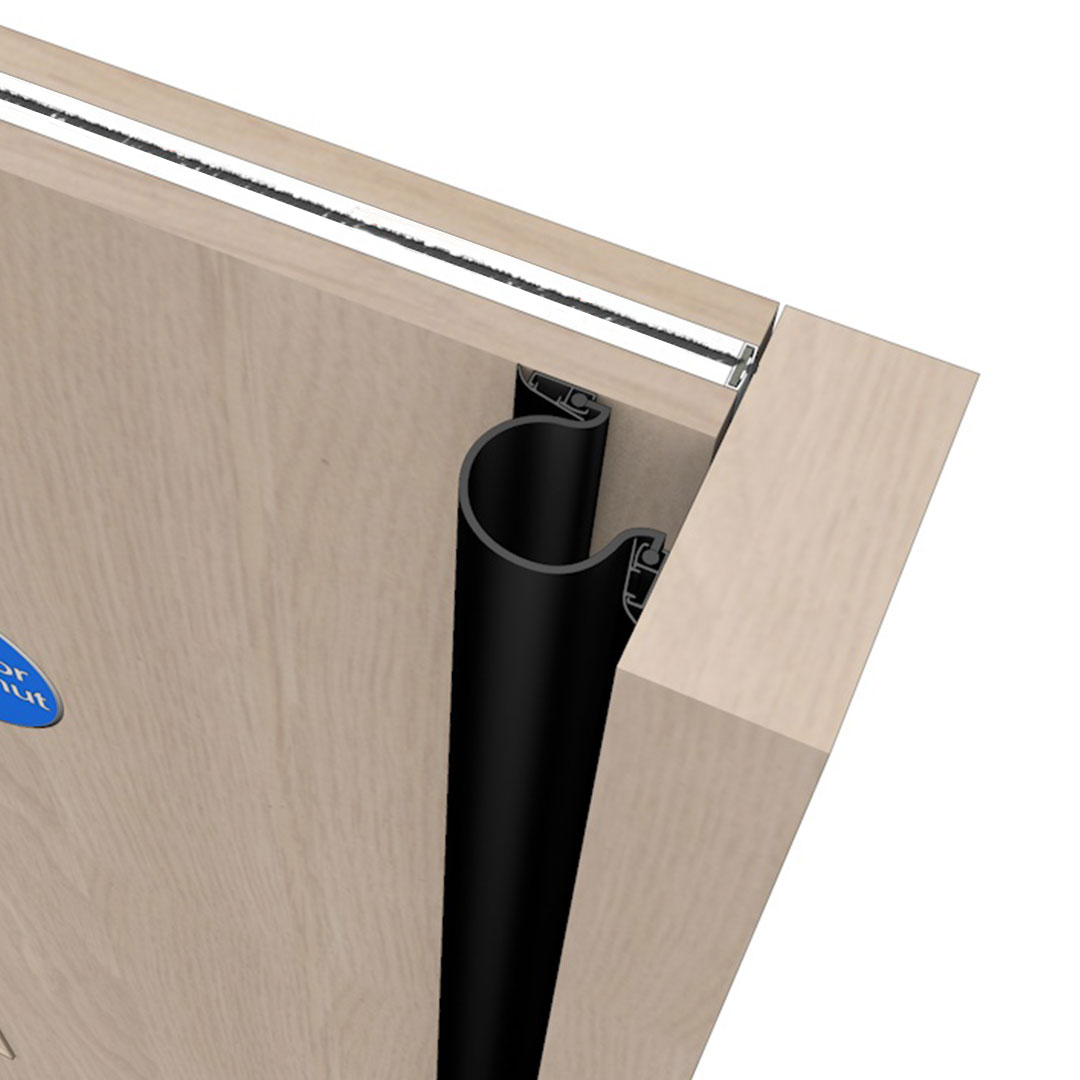 A Front Finger Door Guard Called Finger Guardian Front and Rear Black Colour Product