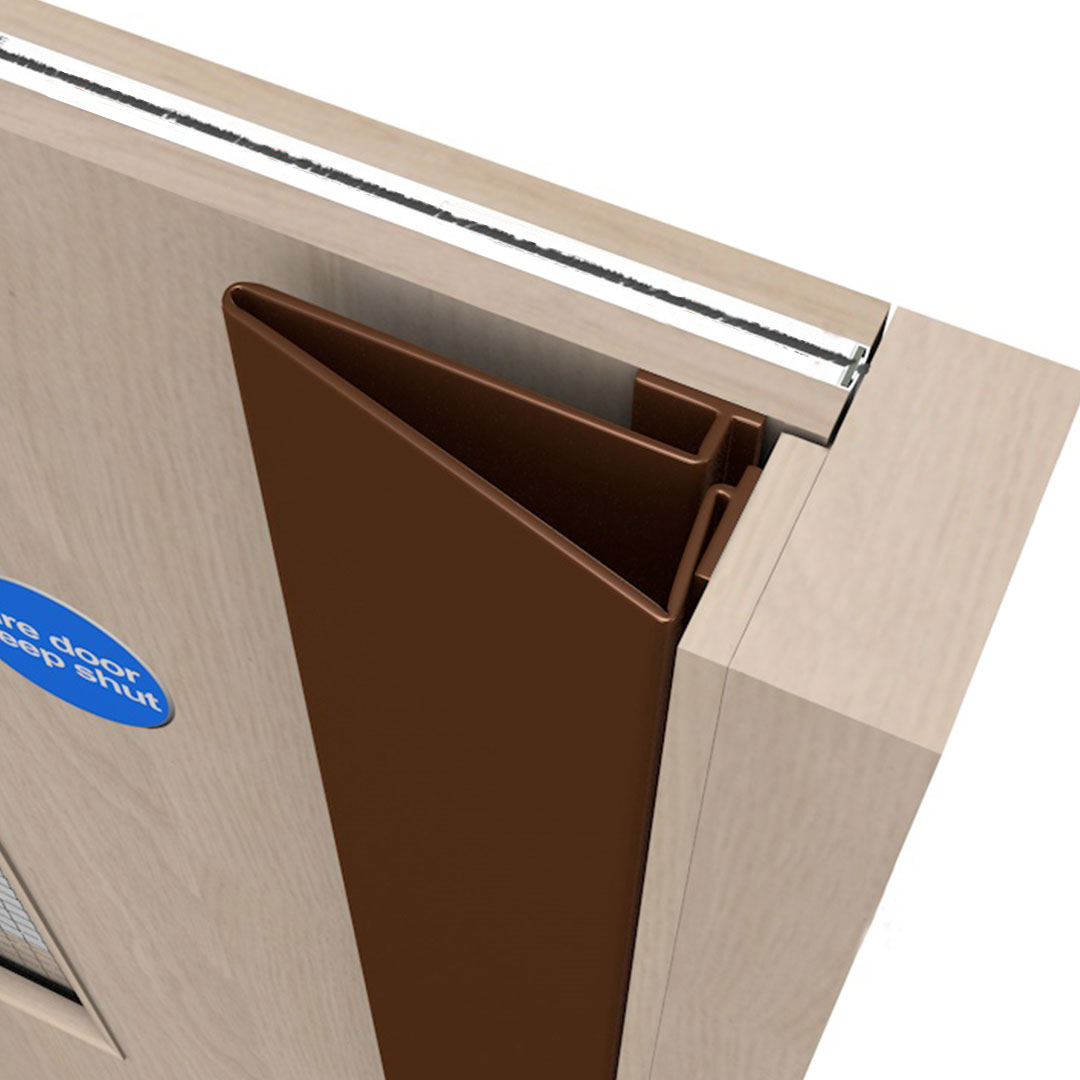 A Front Finger Door Guard Called Finger Saver Elite Front Brown Colour Product