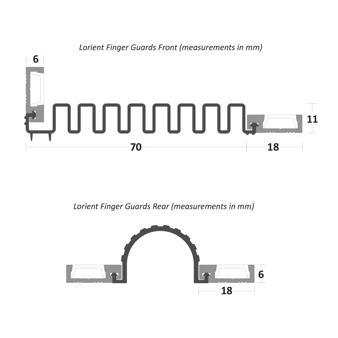Lorient Finger Front and Rear Guard Measurements Thumb Image